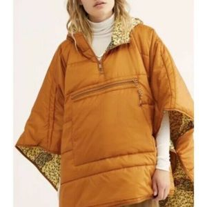 Free People Traveling Band Quilted Oversize Poncho